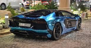 blue and black lamborghini chrome blue black lamborghini aventador in dubai the saudi