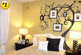 great interior bedroom design with alluring wall decoration again