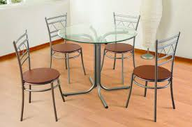 glass dining table with 4 chairs reneta 115 00 landlord