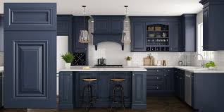 blue gray stained kitchen cabinets park ave blue raised panel assembled kitchen cabinets