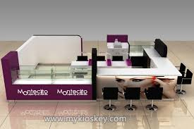nail bar kiosk for nail shop furniture with coffee counter for