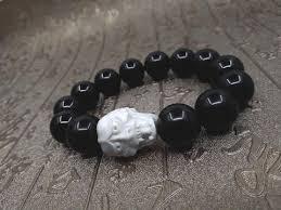 black onyx beads bracelet images Hannya mask black onyx beaded bracelet khachara empire jpg
