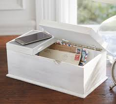 charging box wireless charging box with usb port pottery barn