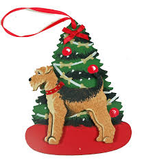 airedale terrier dog lover christmas ornaments u2013 for the love of