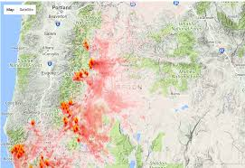 a map of oregon wildfires oregon smoke information oregon state smoke forecast for tuesday