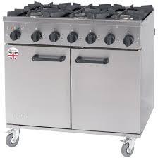 Titan Kitchen Burco Titan 6 Burner Natural Gas Dual Fuel Range Rg90df Ng Ce368