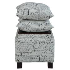 Square Ottomans With Storage by Madison Park Shelley Square Storage Ottoman With Pillows Ebay
