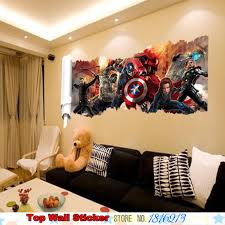 aliexpress com buy 3d marvel avengers wall sticker for kids boys aliexpress com buy 3d marvel avengers wall sticker for kids boys christmas gifts living room bedroom superhero union mural art wall poster stickers from