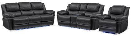 Power Reclining Loveseat Monza Dual Power Reclining Sofa Reclining Loveseat And Recliner