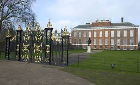 prince william and kate plant hedge at kensington palace ahead of