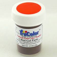 trucolor natural gel paste powder red bake king singapore