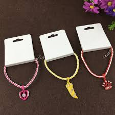 bracelet hand display images 200pcs 12 5cm paper hand chain white necklace cards blank jewelry jpg