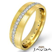 mens eternity rings mens eternity ring pave diamond wedding dome band 18k yellow