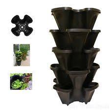 Ebay Vertical Garden - 5 large indoor outdoor stackable vertical garden tower planters