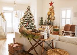 beautiful cheap artificial christmas trees in family room shabby