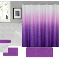 purple shower curtain set wayfair