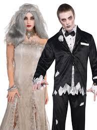 Halloween Costumes Bride Groom Ladies Mens Corpse Bride Zombie Groom Halloween Fancy Dress