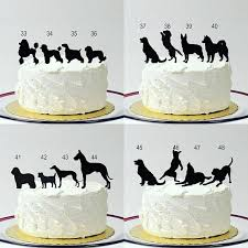 dog wedding cake toppers made in usa silhouette cake topper with pet dog 48 different