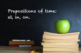 prepositions of time at in on esl efl lesson plan and worksheet
