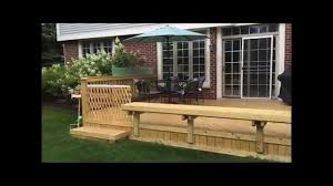 bench deck with built in bench wood deck built in bench glenview