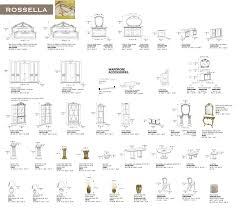 rossella dining comp 1 classic formal dining sets dining room
