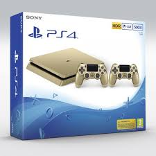 Ps 4 Ps4 Slim 500 Gb Gold Original Garansi Resmi Sony Pes 2018 sony playstation 4 slim 500gb 2 controllers gold price review