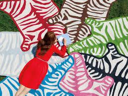 Taupe Zebra Rug Jonathan Adler Zebra Rug Roselawnlutheran