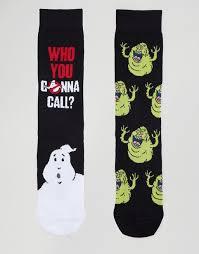 Asos Asos Halloween Socks With Ghostbusters Design 2 Pack