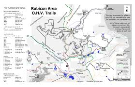Rubicon Trail Map Maps Directions The U0027other U0027 Rubicon