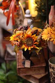 evergreen home decor pretty dried sunflower floral arrangement evergreen at the lake of