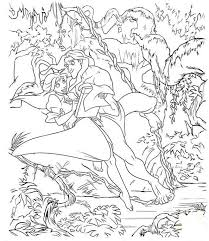 disney tarzan coloring pages list coloring
