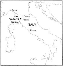 Tuscany Italy Map Landslides At Volterra Tuscany Italy