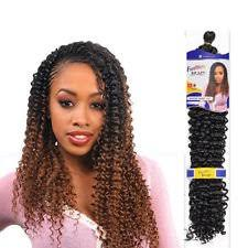 black colour 1 freetress water wave bulk braid crochet or pick
