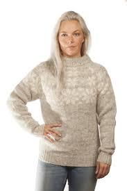 white wool sweater fönn wool sweater grey álafoss since 1896