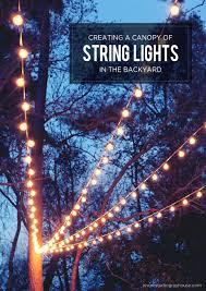 backyard string lights pole porch lighting ideas garden 20894