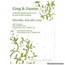 plantable wedding invitations do it yourself seed wedding invitation kit american