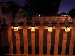Solar Powered Fence Lights - upgrade solar powered wall mount lights landscape garden yard