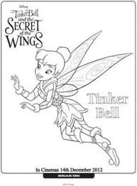 free online disney tinkerbell colouring page tinkerbell free