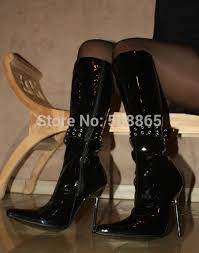womens black knee high boots size 9 aliexpress com buy 12cm high heels pointed toe