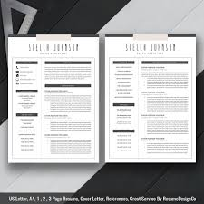 Office Word Resume Template Creative Resume Template Cv Template Ms Office Word Us Letter