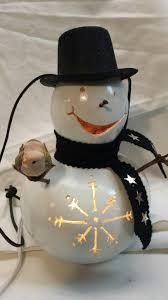 christmas in july special snowman gourd lamp at karen u0027s gourd