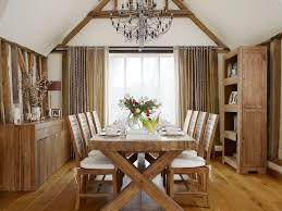 pretty trestle dining table in dining room traditional with