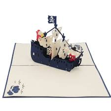 pirate ship pop up card ship pop up card birthday high