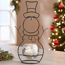 ornament holder snowman candle holder and ornament stand