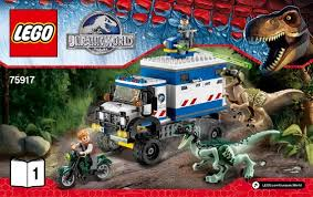 jurassic park jeep instructions raptor rage instructions 75917 jurassic world