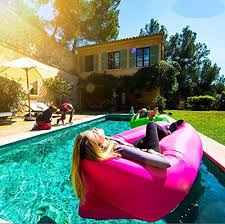 banana bed air lounger fast inflatable air bag bed sofa couch