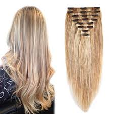light ash blonde clip in hair extensions amazon com 18 613 clip in 100 remy human hair extensions double