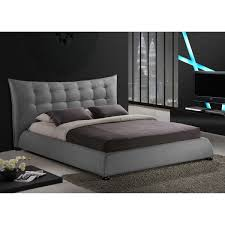 Modern Platform Bed Frames Baxton Studio Marguerite Grey Linen Modern Platform Bed Free