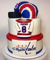 hockey cake toppers washington capital hockey cake rice krispie hockey glove and puck