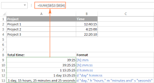 calculate time in excel time difference add subtract and sum times